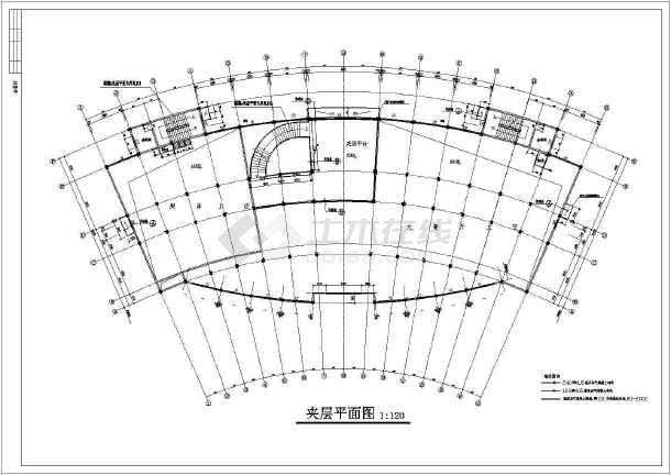 某市区3层混框架结构酒店建筑施工图纸