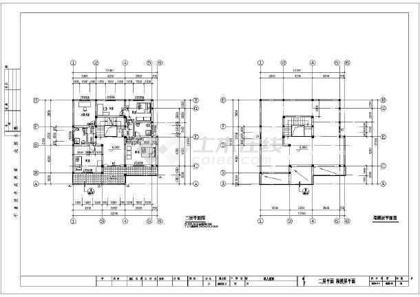 砖混 结构 别墅 建筑和结构施工图 ca
