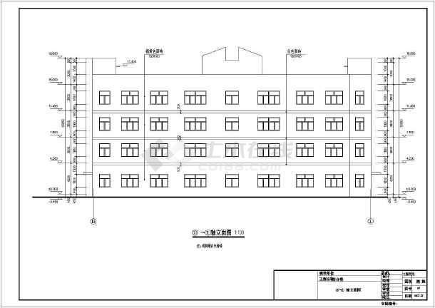 湘潭县4层框架结构大学综合实训楼建筑施工图
