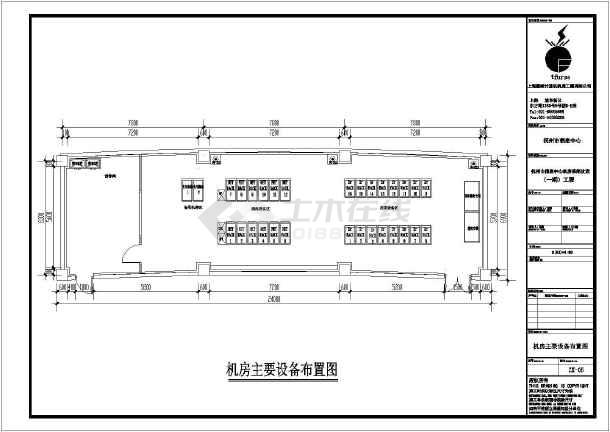 江西省新余市某图纸中心机房迷航图_cad深海信息床图纸竣工图片