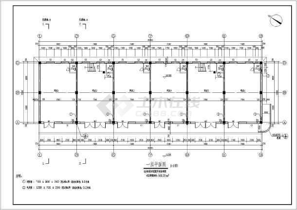 辽宁某3层框架结构仿古餐饮建筑施工图