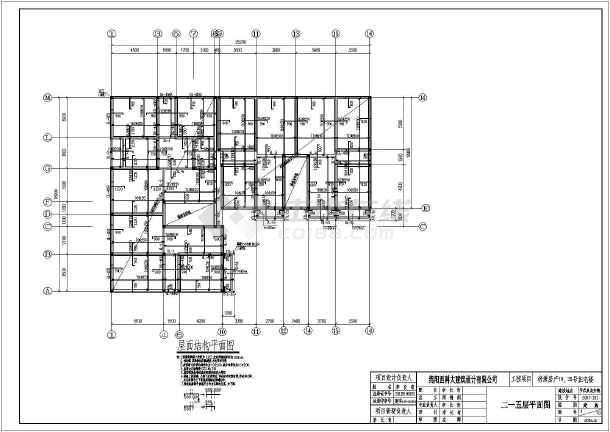 平武县某地6层砌体结构(建施 结施)设计施工图纸