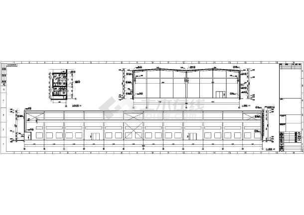 某工厂单层轻钢结构厂房建筑设计施工图
