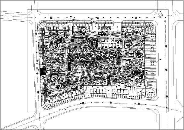 专题首页  欧式园林景观平面图  某高档小区的园林景观规划总平面图