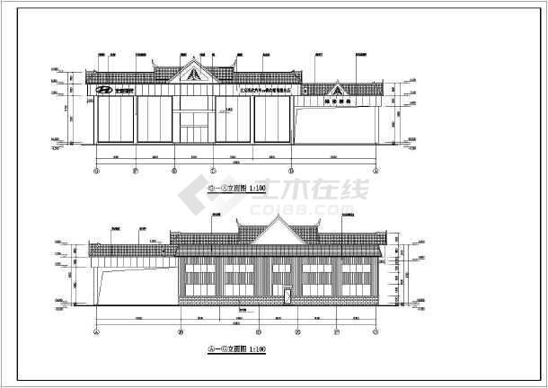 芒市傣族风格汽车4s店建筑施工设计图