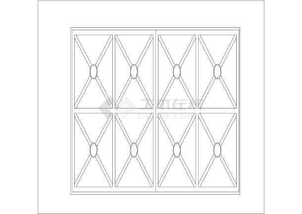 建筑cad常用各类建筑立面图块之立面窗