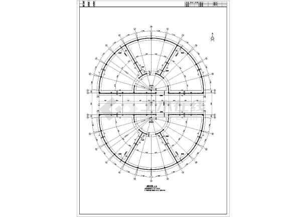 某地单层框架结构垃圾发酵仓圆形施工图