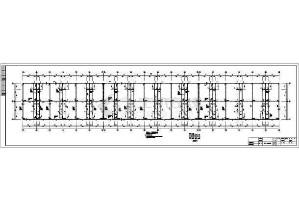 某地三层框架结构临街商铺结构设计施工图