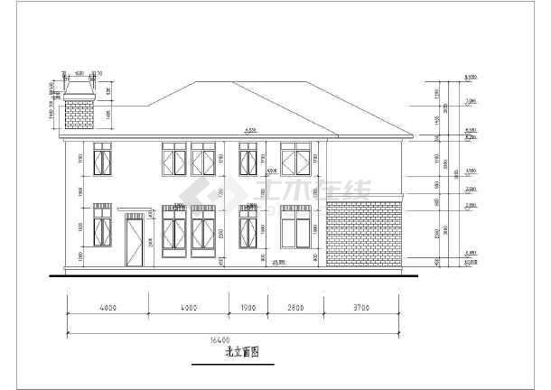 南方某地区二层别墅楼建筑设计方案图