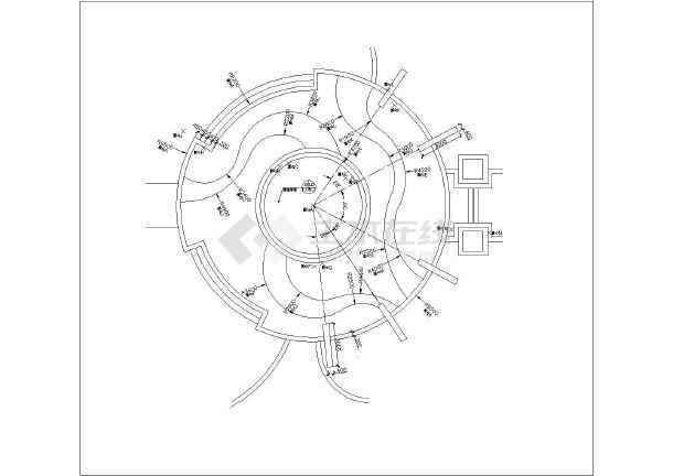 欧式高档住宅小区中庭庭院园林景观工程施工图