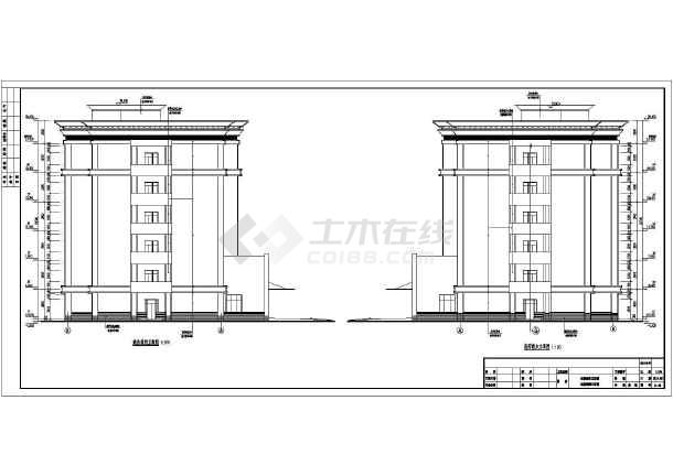 某市6层框架结构精神病专科医院建筑设计施工图湖南方圆建筑设计院怎么样图片