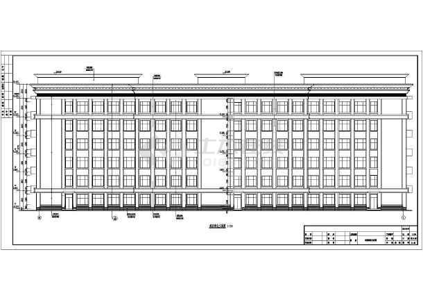 某市6层方法框架精神病专科医院建筑设计施工图word结构绘制直线图片