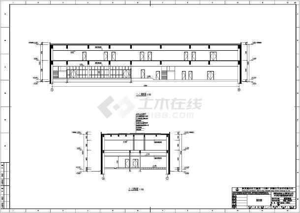 某工厂建设工程变配电室建筑结构图_cad前庭房图纸钢板飘cad图图片