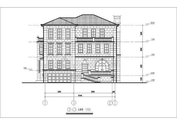 多层长15.30米 宽18.95米农村自建房别墅建筑结构图