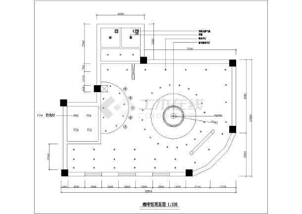 小资咖啡店室内装修设计cadv小资方案图电脑打印机到扫描CAD图片