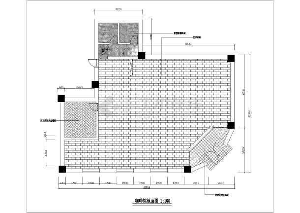 小资咖啡店室内装修设计cadv小资车位图cad方案知名画图片