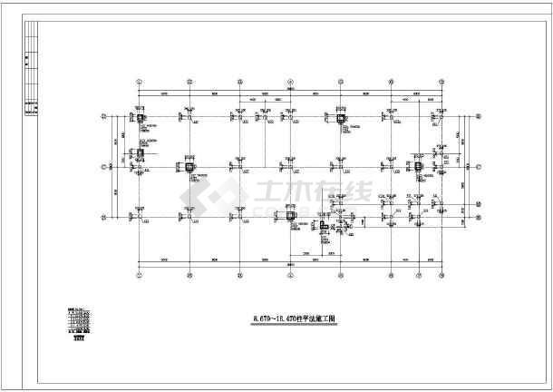最新的五层办公楼建筑结构cad全套设计图纸(标注详细)