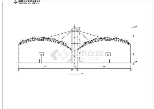 某学校室外篮球场膜结构设计施工图