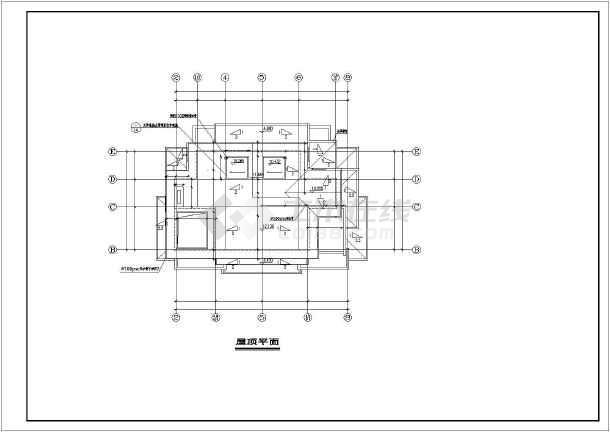 某地三层框架结构精品双联别墅建筑设计施工图