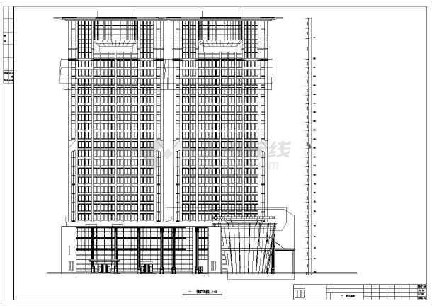 某地24层框架剪力墙结构商务楼建筑施工图