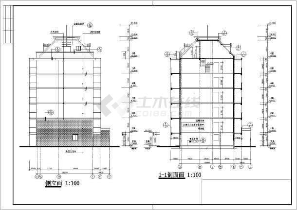 某地六层框架结构教师公寓建筑设计施工图纸