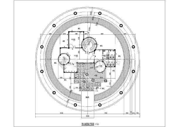 二层平面图,屋顶平面图,各向等   相关专题:城堡别墅城堡设计梦幻别墅