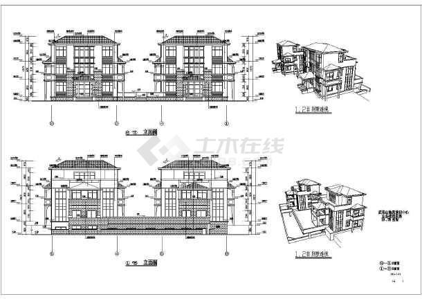 某地区三层楼会所建筑设计施工图纸