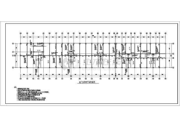 层框架结构住宅楼结构施工图纸  简介:下的底框住宅,夯扩,有总说明,墙