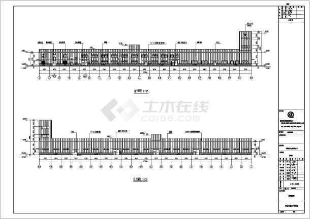 安徽单层门式钢架产房建筑结构施工图