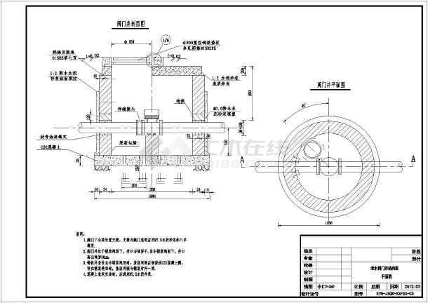 某图纸泄水井精致设计施工斜线(使用于绘制图在文档中如何使用工程表头图片