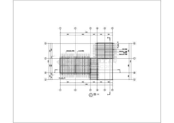 某方钢结构加竹材廊架全套施工图纸