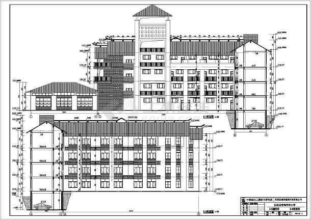 某地区四层框架结构教学楼建筑施工图