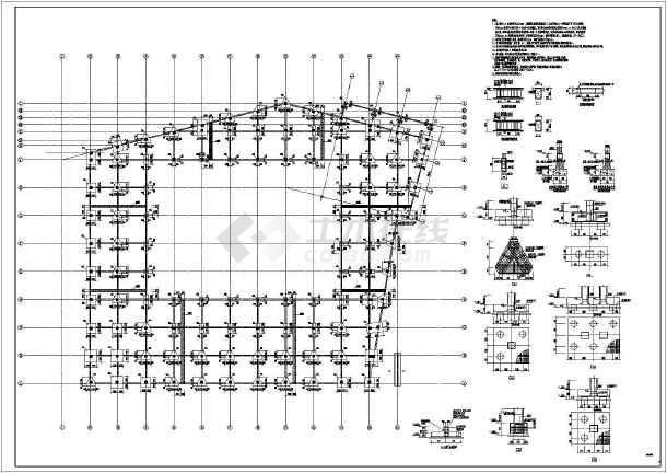 某19m高框架结构职业教育中心体育馆结构施工图