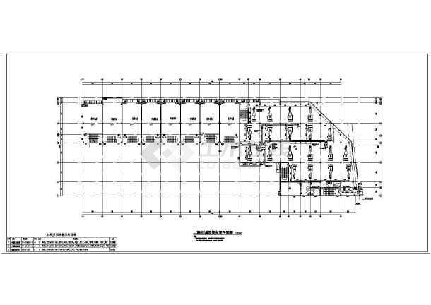 某地五层商场空调风管平面图_cad图纸下载-土