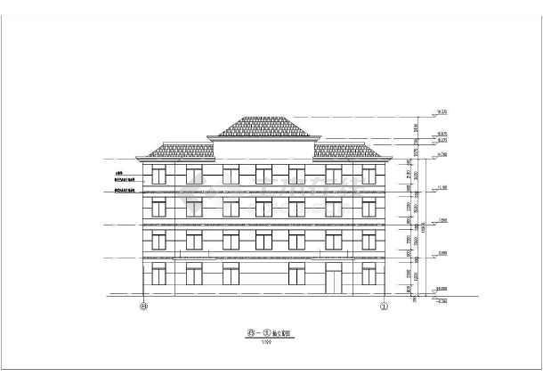 某地四层框架结构坡屋顶办公楼建筑施工图