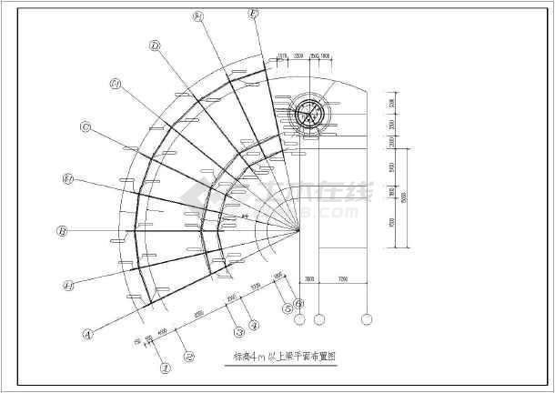某地售楼部展厅建筑施工及钢结构施工图
