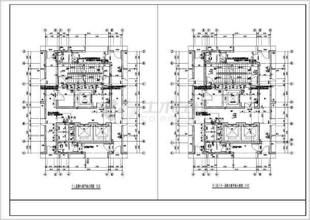 某地32层综合楼核心筒建筑施工图