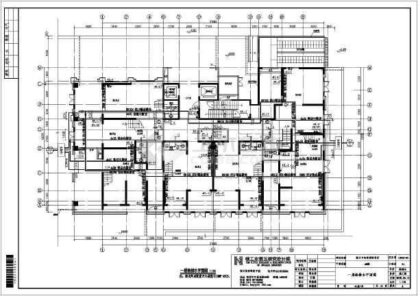 综合楼项目给排水设计图纸,建筑布局一梯六户,地库 3层商场 20层住宅