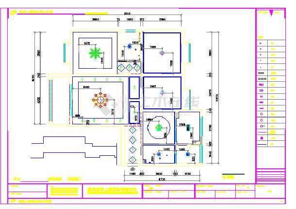 某欧式三室一厅装饰装修设计施工图纸