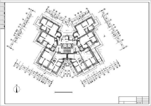 某十八层住宅楼消防采暖cad设计图纸_cad图纸库标准图纸电气图片