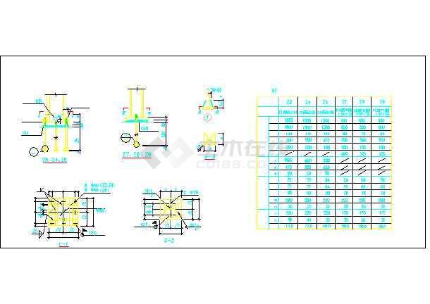某钢结构售楼处节点cad全套设计施工图纸-图1