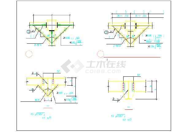 某钢结构售楼处节点cad全套设计施工图纸-图3
