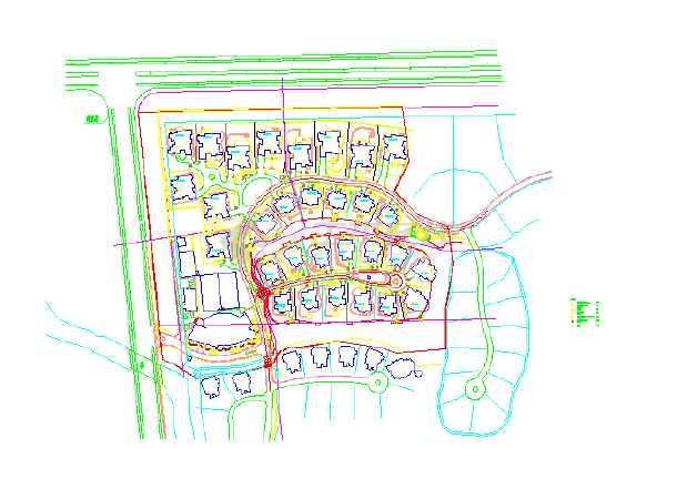 【上海】某地别墅区植物种植平面图