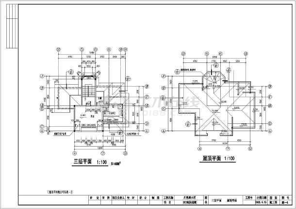 三层长17.00米 宽12.90米农村自建房建筑设计图(cad图纸下载)