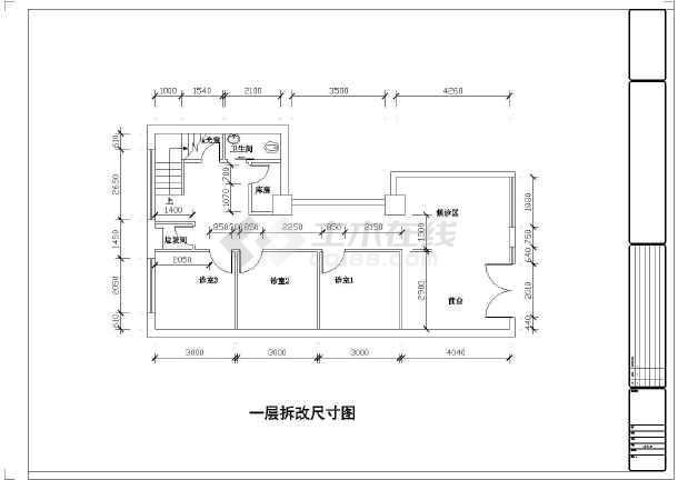 平面设计大参考_某中型口腔诊所室内装修设计CAD平面图_cad图纸下载-土木在线