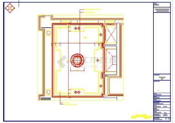 豪华住宅开放式厨房装修设计cad施工图