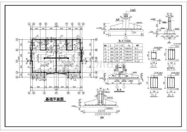 某市农村三层框混结构住宅通用图纸