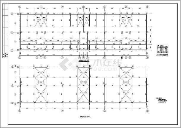 某四层钢框架结构宾馆设计施工图纸