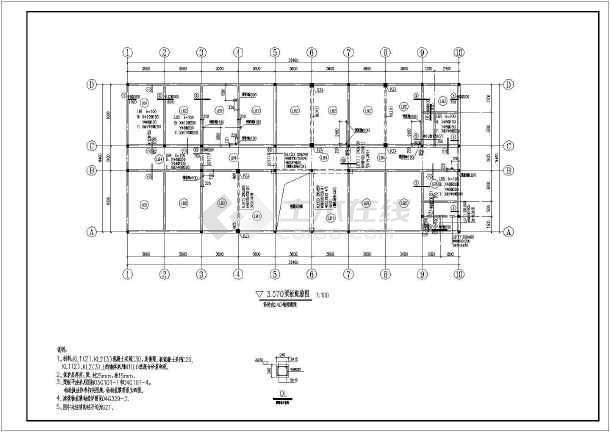某地三层砖混结构实验楼结构施工图