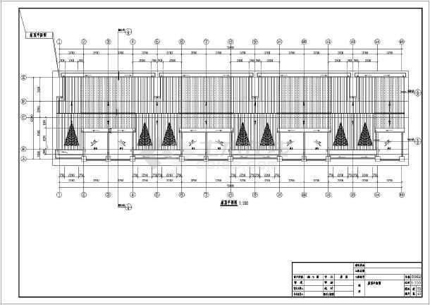 某地两层框架结构联排别墅建筑设计扩初图